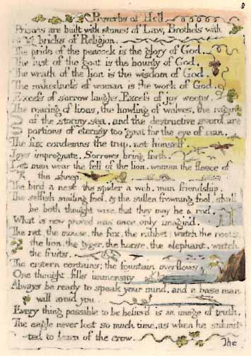 The Wm. Blake Page - The Marriage of Heaven and Hell